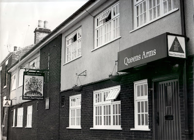 Historic Brigg town centre pub The Queens Arms - since closed -  pictured  in the 1970s