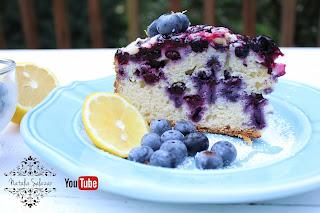 Cake de arándanos y limón casero delicioso