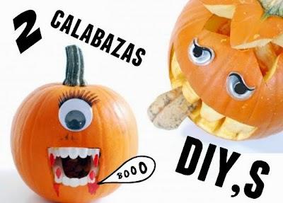 Calabaza para Halloween haz una con tu hijo