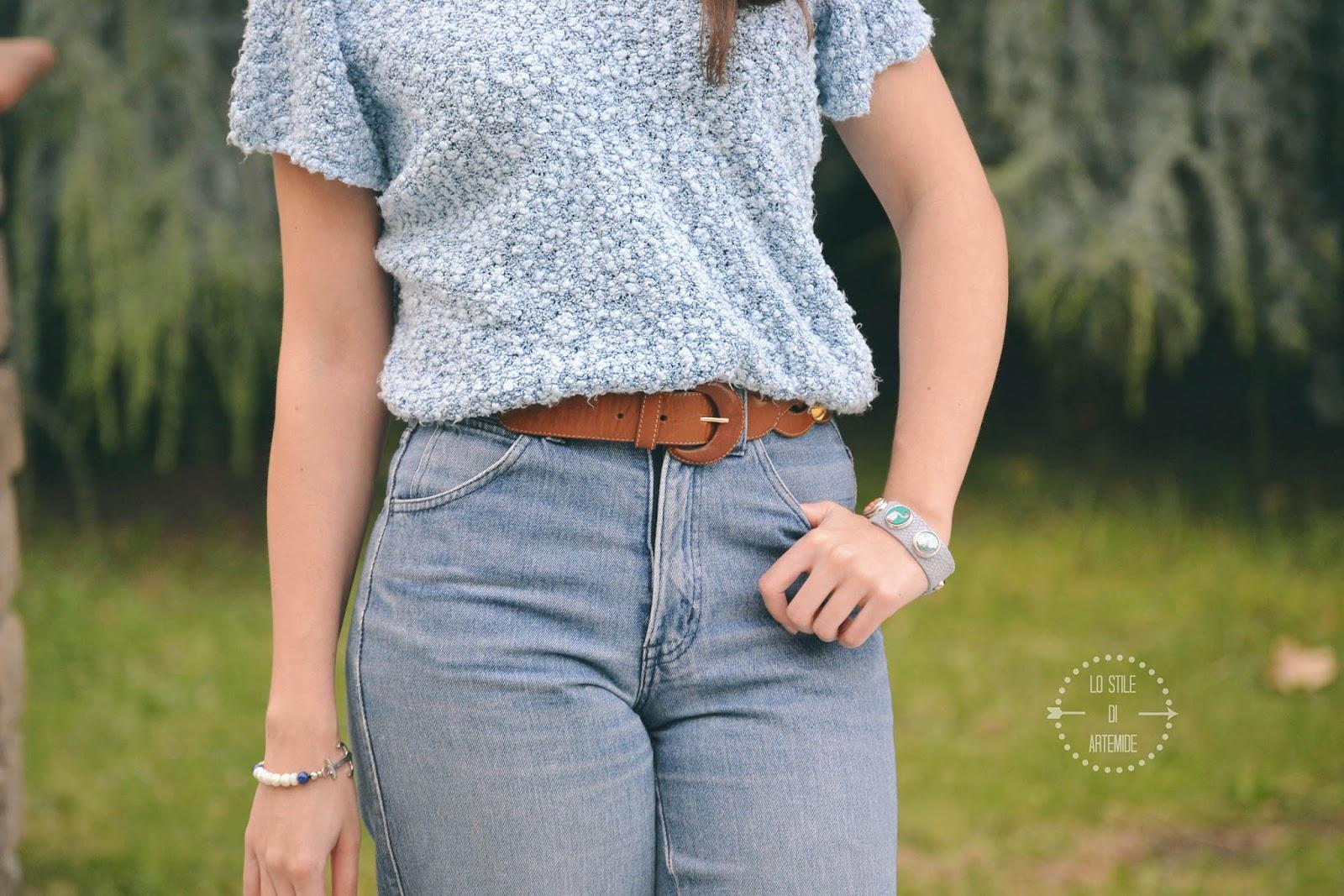 jeans a vita alta abbinamenti
