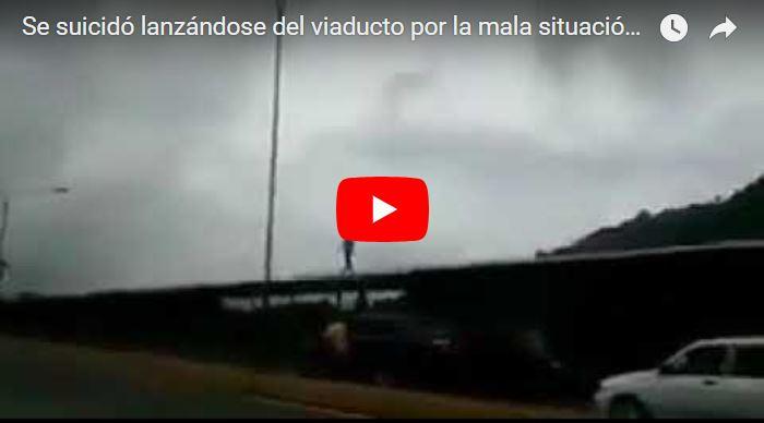 Se suicidó lanzándose del viaducto por la mala situación en Venezuela