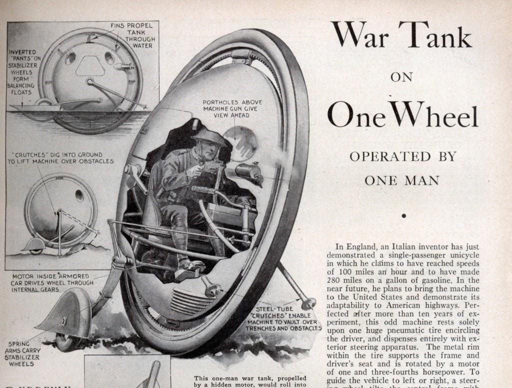 One-wheel motorbike