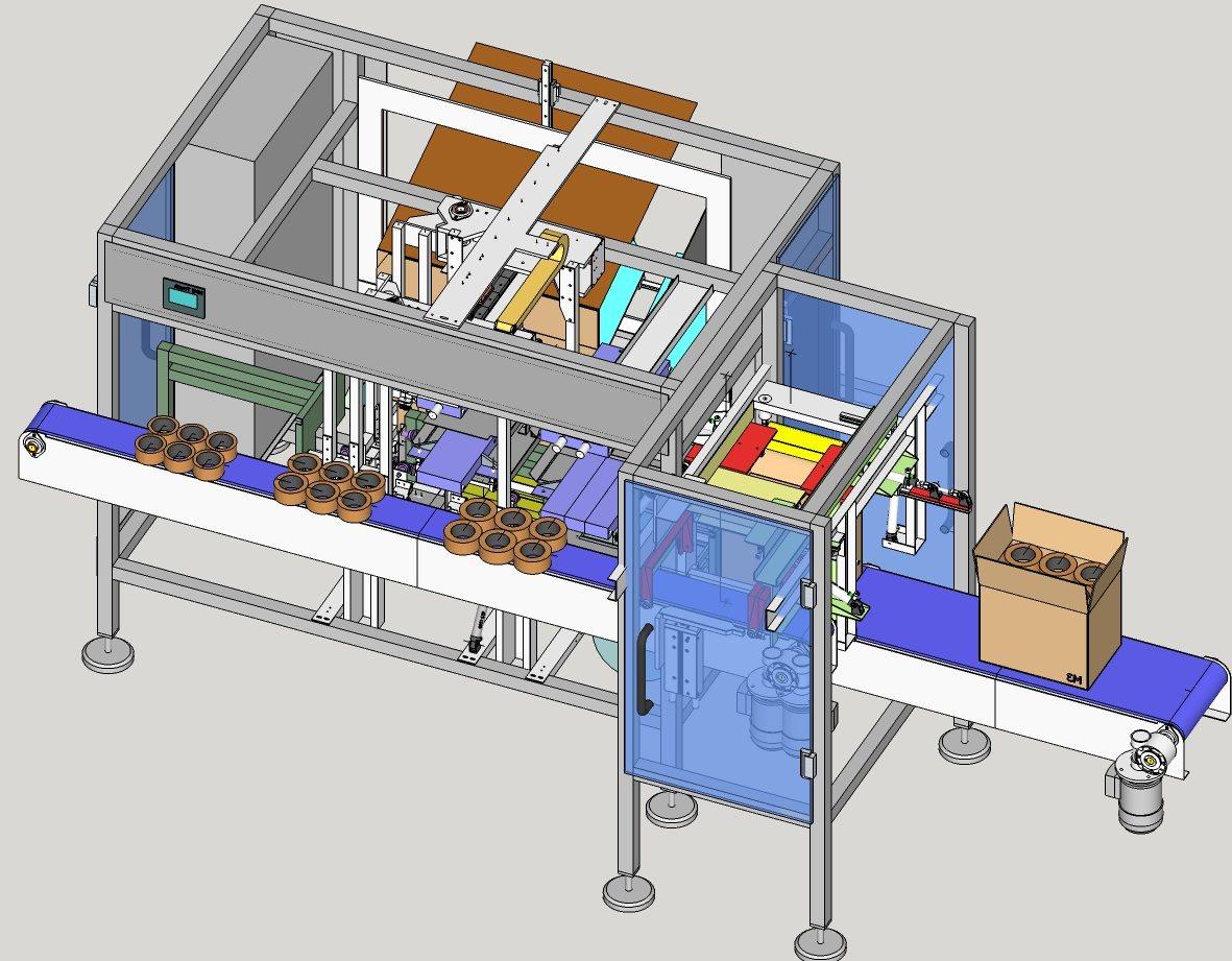 Siscodata robotics sis316 formacartoni riempimento e chiusura carton former filling and - Modulo chiusura automatica specchi retrovisori ...