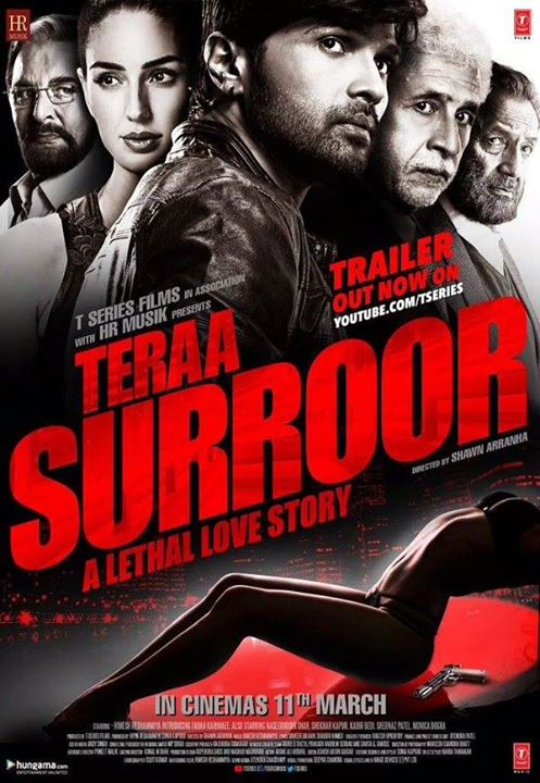 full cast and crew of bollywood movie Teraa Surroor 2016 wiki, Himesh Reshammiya, Farah Karimi story, release date, Actress name poster, trailer, Photos, Wallapper