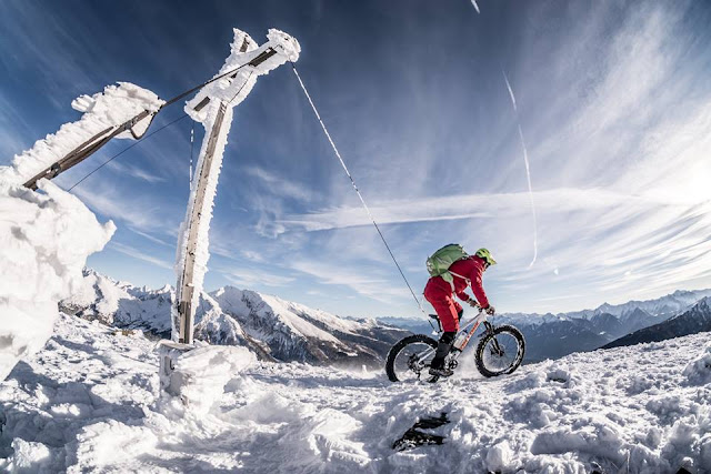Mountainbike Winter Gipfel Brenner Grenzkamm