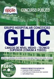Download Apostila Concurso GHC 2019 PDF
