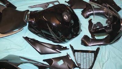 Piezas de moto en desguace