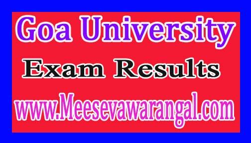 Goa University BA/ B.Sc / B.Com Vth Sem Oct 2016 Exam Results