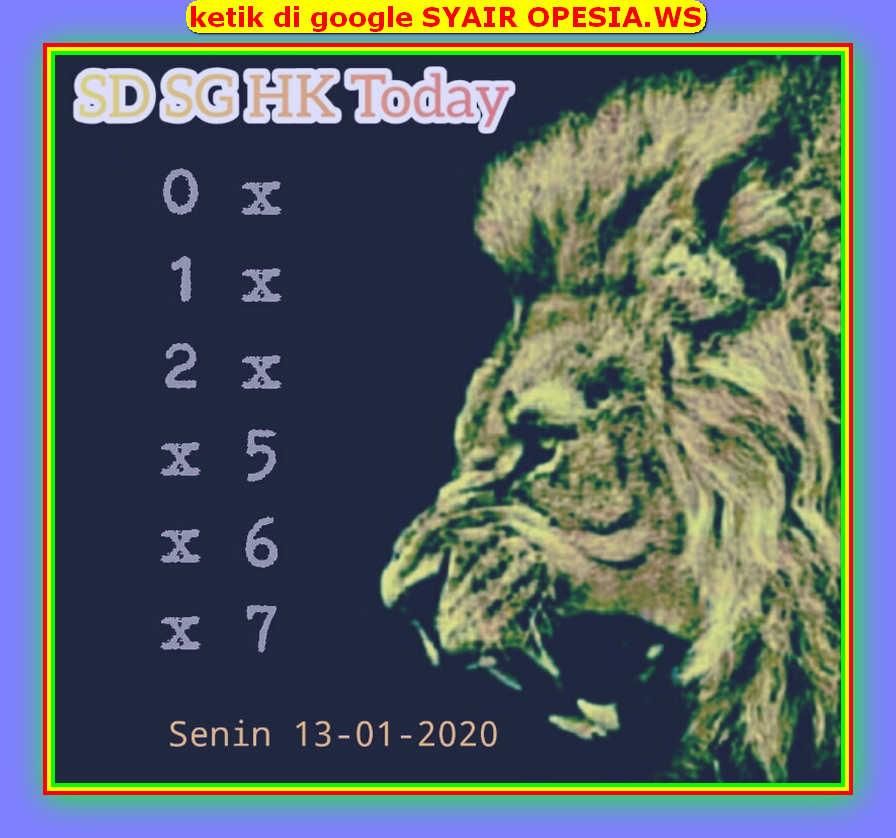 Kode syair Hongkong Senin 13 Januari 2020 89