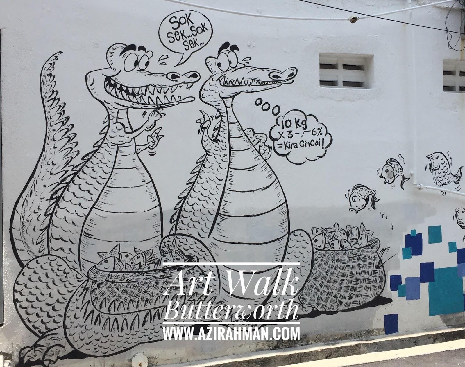 Art Walk Butterworth, lokasi menarik di Pulau Pinang, tempat pelancongan di Pulau Pinang