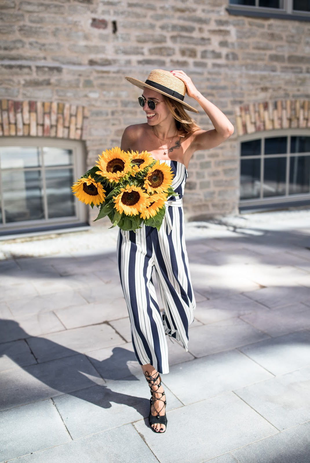 stripe jumpsuit outfit summer
