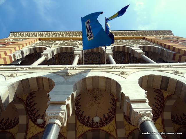 Photos of the Sarajevo City Hall and City Library aka Vijecnica