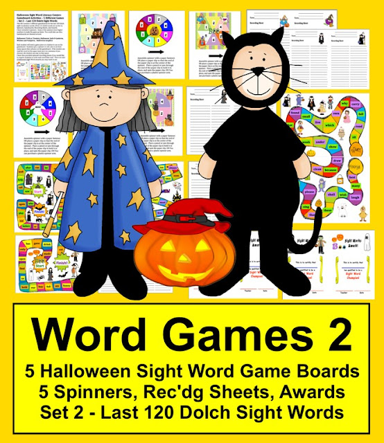 https://www.teacherspayteachers.com/Product/Halloween-Literacy-Centers-Sight-Words-Game-Boards-Last-120-Dolch-Words-364402