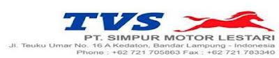 Lowongan Kerja PT. Simpur Motor Lestari (TVS Lampung) Terbaru 2013