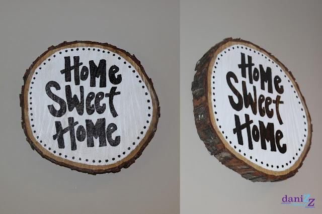 Wood Slice Wall Decor, Wood Slice Wall Decorations, Wood slice, wood slice crafts, wall decor,  wood slice paintings, wood slice sayings, wood signs, wood wall decor, wood slice ideas, wood slice art, tree stump decor, tree stump decoration, home decor, wood sign, wood stump sign, wood slice sign, DIY, DIY wall decor, DIY wood decorations, Wood decorations, Home Sweet Home, Home Sweet Home wall art, Home Sweet Home wood slice, Home Sweet Home wall decor