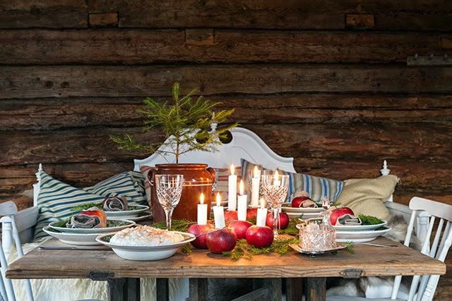 navidad rstica decorada en rojo