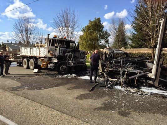 visalia vehicle accident parked dump truck box van christopher nelson fatality
