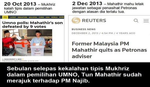 Mahathir letak jawatan Penasihat Petronas pada usia 88 tahun kerana sudah tua - Untuk jadi PM semula pada umur 93 tahun tak tua?