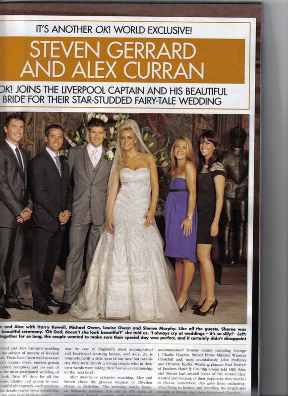 Red Carpet Wedding Alex And Steven Gerrard