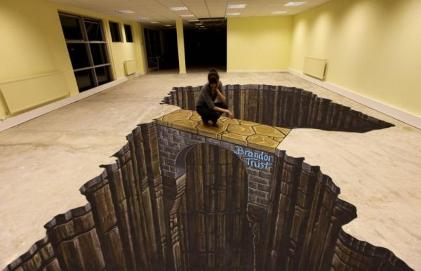 Awesome 3D floor art: interior design fantasy