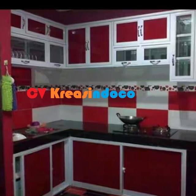 Jasa pembuatan kitchen set aluminium bengkel las listrik for Harga kitchen set aluminium