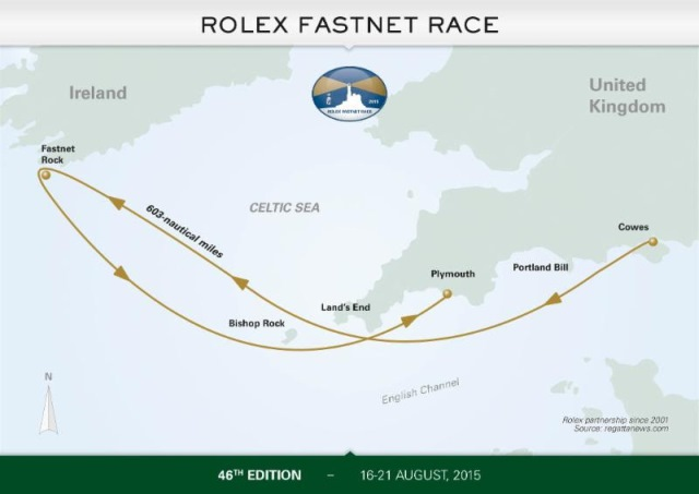 Chart graphic: Rolex Fastnet Race 2015
