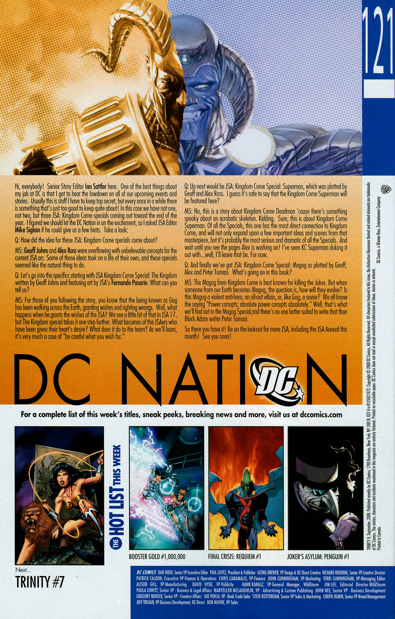 Read online Trinity (2008) comic -  Issue #6 - 32