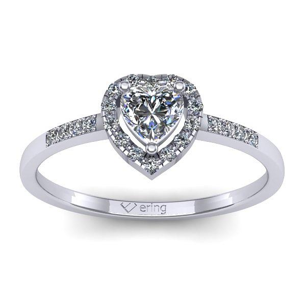 Inel de logodna din aur alb cu diamant