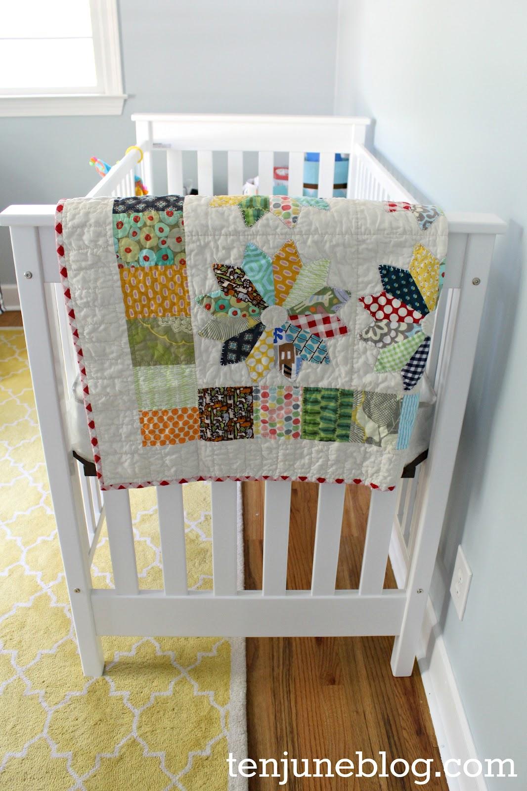 Ten June Nursery Update Custom Baby Boy Quilt Bedding