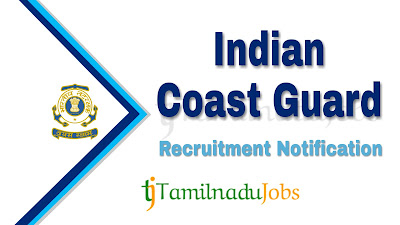 Indian Coast Guard Recruitment notification of 2019, govt jobs for diploma