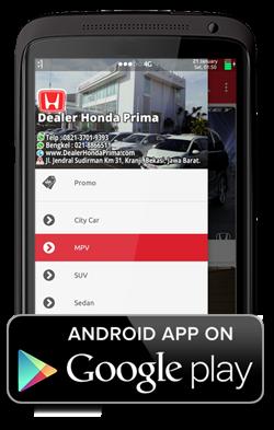 Aplikasi Android Dealer Honda Prima - Dealer Resmi Mobil Honda
