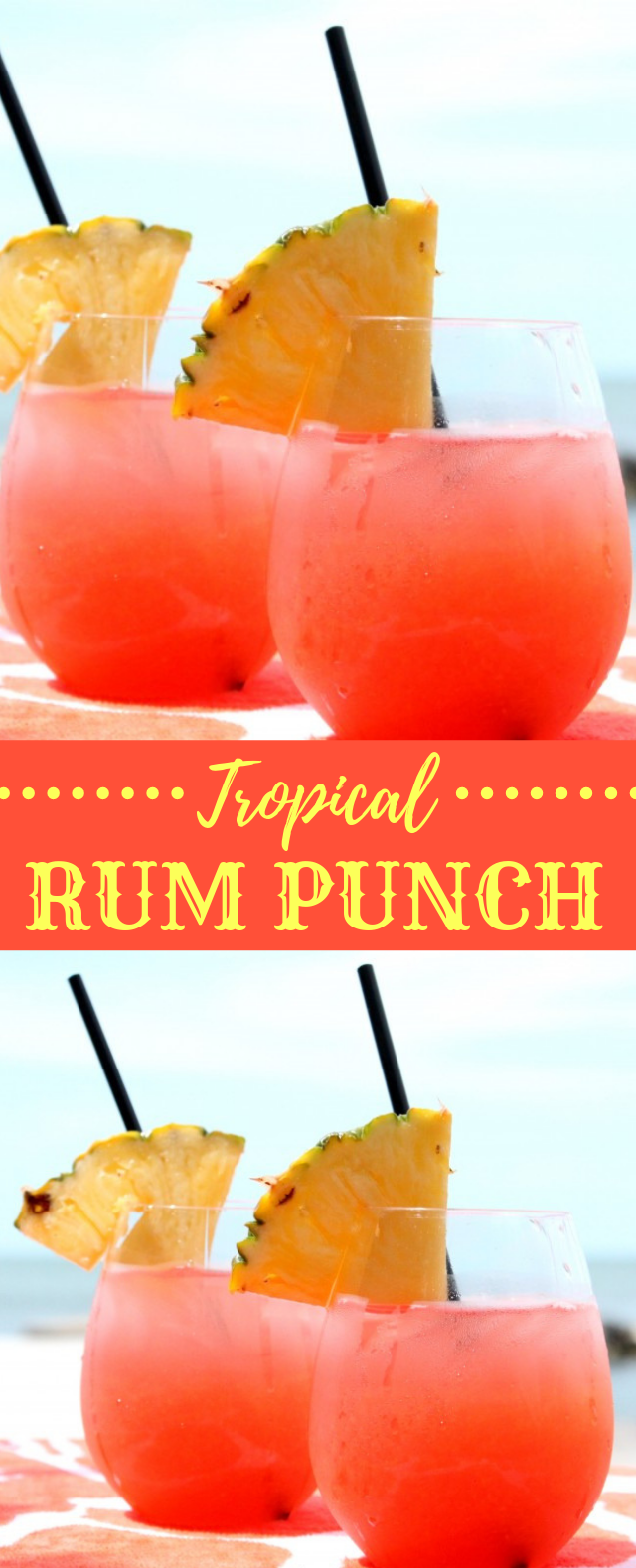 TROPICAL RUM PUNCH RECIPE #summerdrink #drinks