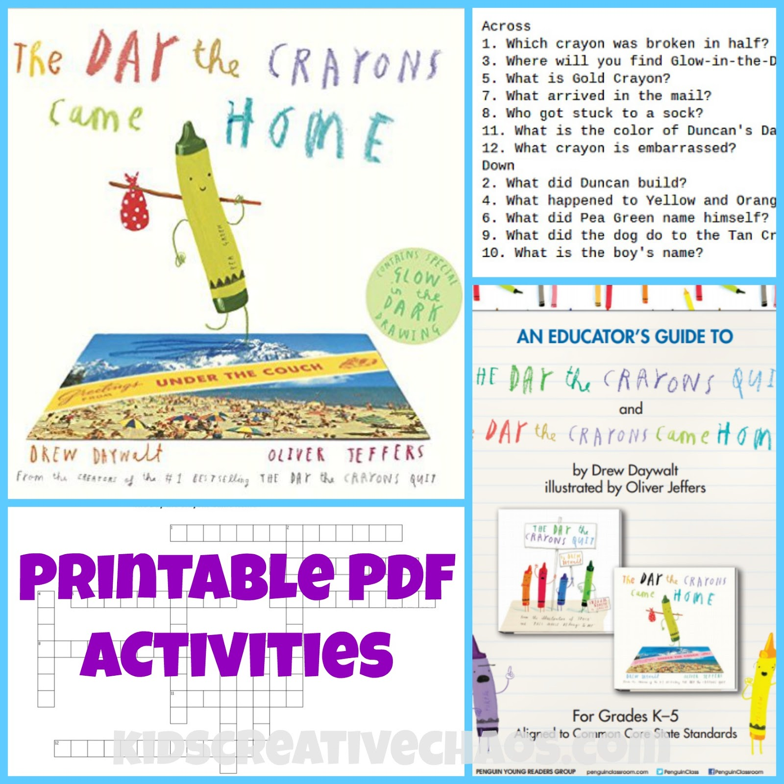 the day the crayons came home pdf activities book review kids