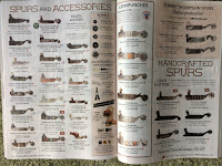 catalog page showing large selection of spurs