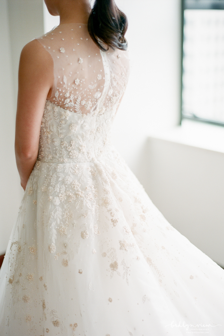 amsale beaded wedding dress