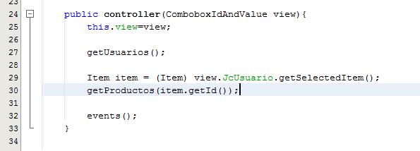 método constructor de la clase controller.java