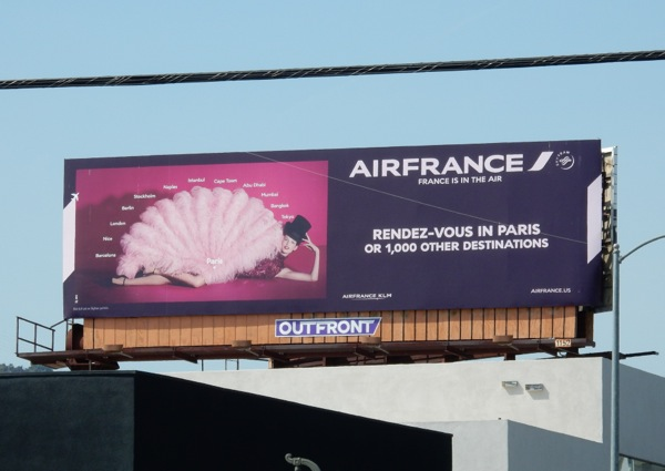 Air France Rendez-vous Paris 2015 fan billboard