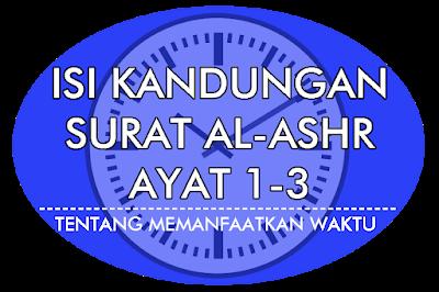Isi Kandungan Surat Al-Ashr Ayat 1-3 Lengkap / intinebelajar