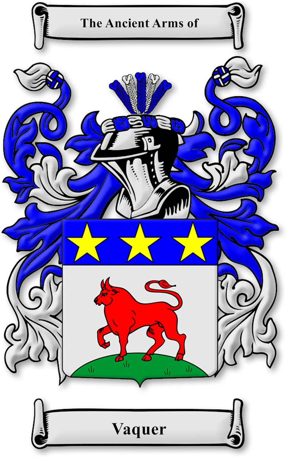 Armands rancho del cielo family crest finally ive obtained a large sized image of the vaquer family crest buycottarizona