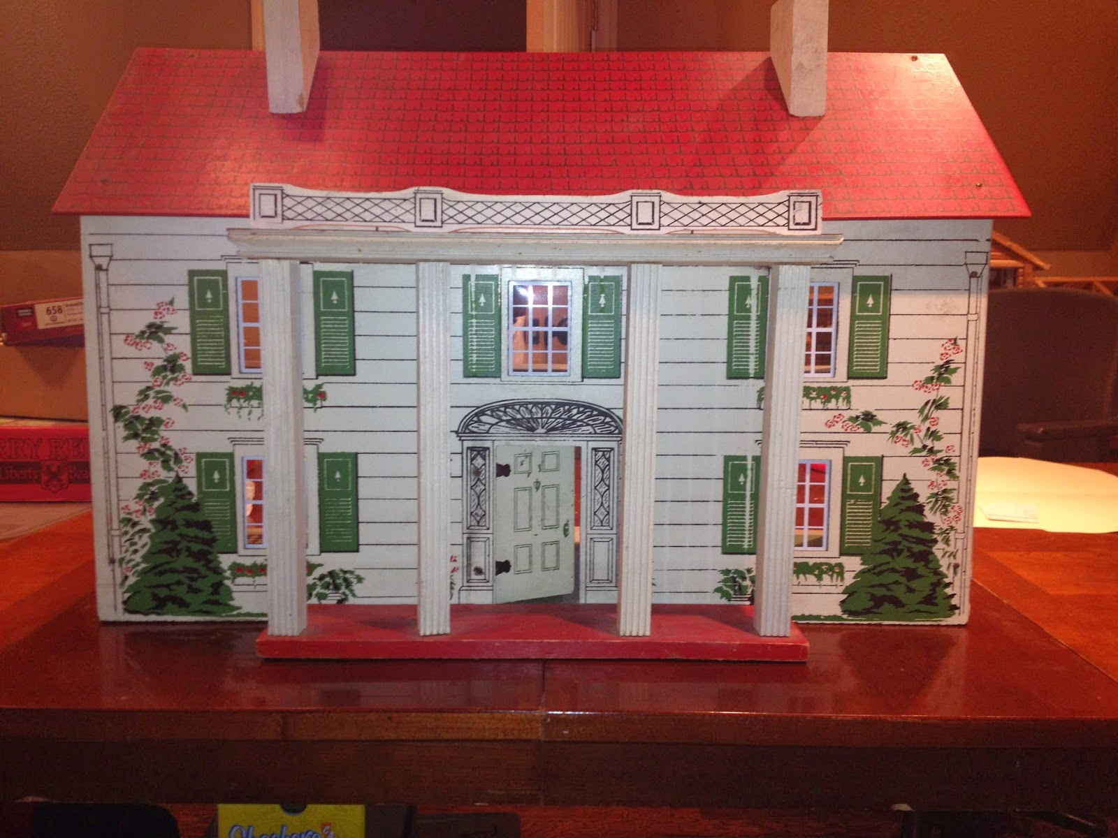 tulsa tiny stuff 1940 s rich southern colonial doll house 1940s House Plans i took the opportunity to replace the windows in my other 1940 s rich colonial doll house today this house is slightly smaller than my other rich house and