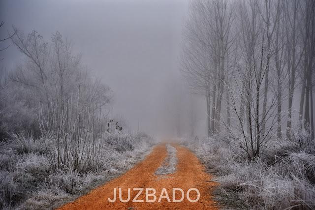 Juzbado libro abierto frío paisaje invierno