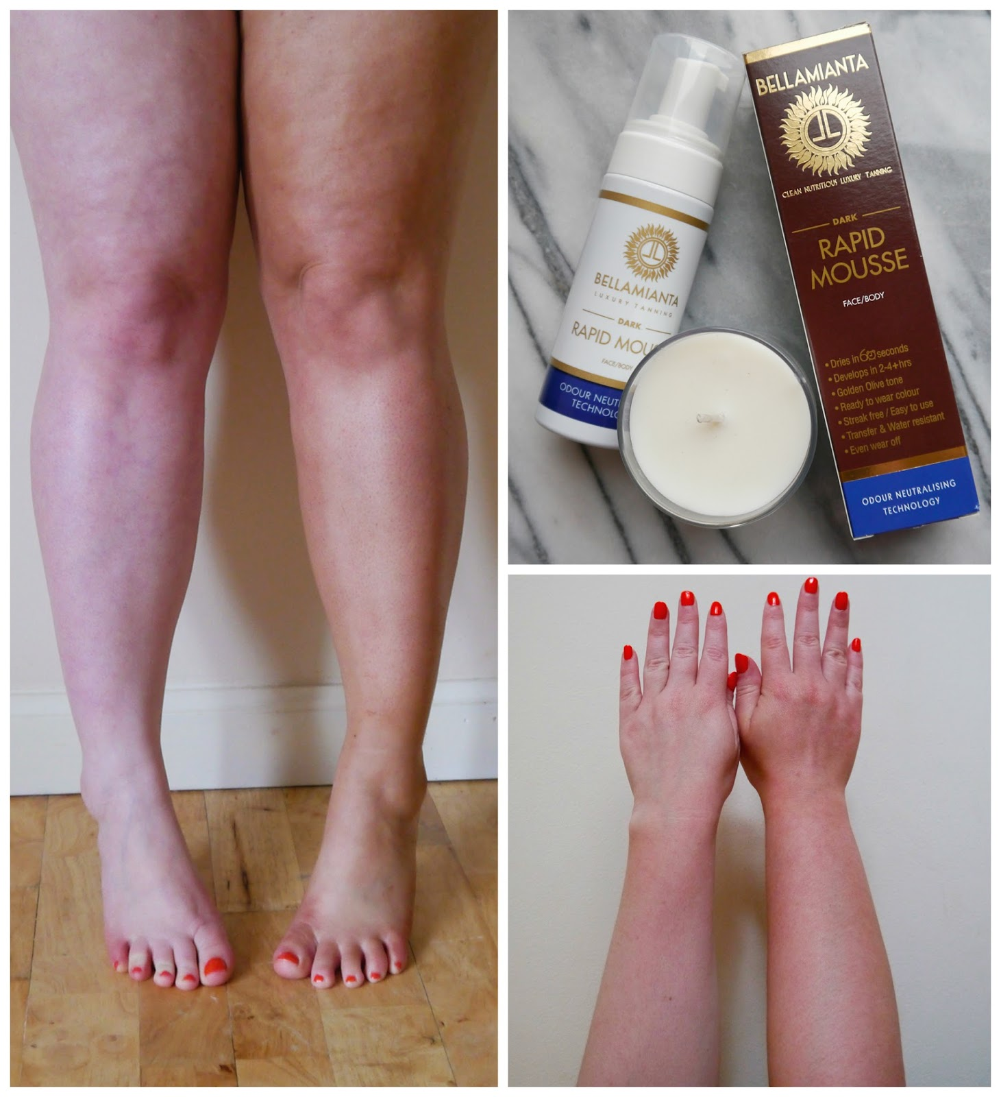Wardrobe Conversations, Scottish blogger, Edinburgh Blogger, summer tan, fake tan, natural fake tan, easy fake tan, tanning tips, Bellamianta fake tan, tanning mousse, before and after tanning, fake tan test