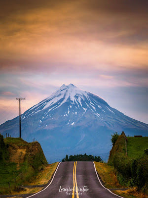 New Zealand, NZ, Taranaki, Mt Taranaki, Sunset, Kent Road, New Plymouth
