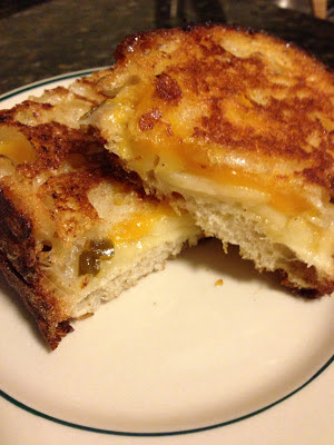 Grilled Cheese Sandwich with Peach Jalapeno Jam