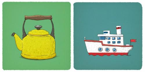 ấm đun nước và tàu hơi nước