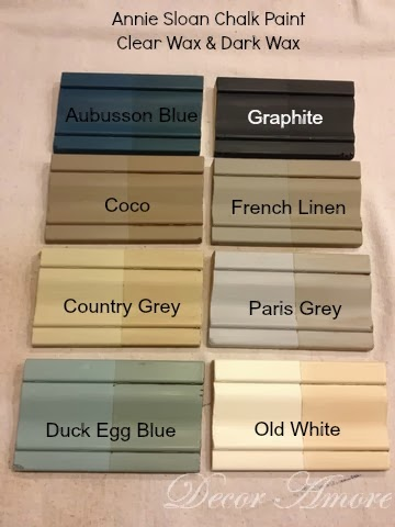 decor amore my annie sloan chalk paint u00ae color boards