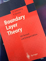 Boundary Layer Theory, by Schlichting and Gersten, superimposed on Intermediate Physics for Medicine and BIology.
