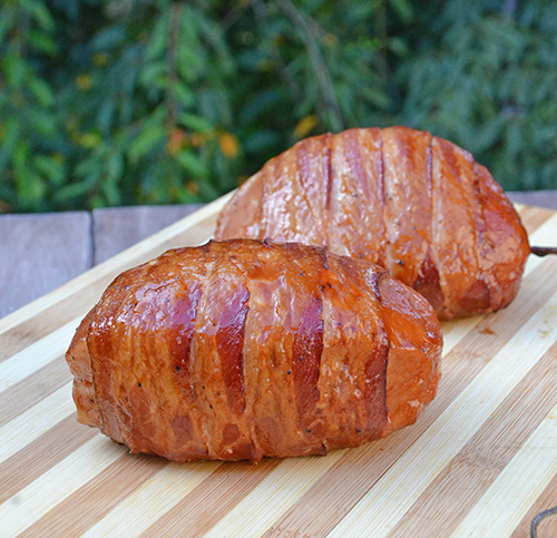Resting Smithfield Yuengling Bratwurst Stuffed Pork Chops