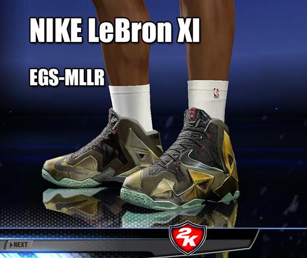 36465e35d50aa NBA 2K14 Nike LeBron XI Shoes Patch - NBA2K.ORG