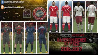 PES 2016 Bayern Munchen KitPack 2017(V2)